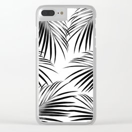 Black Palm Leaves Dream #2 #tropical #decor #art #society6 Clear iPhone Case