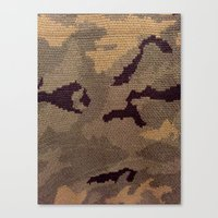 camo Canvas Prints featuring Camo by Sheena Mohammadi