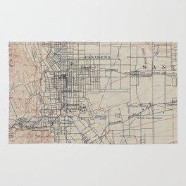 Vintage Map of Pasadena California (1894) Rug