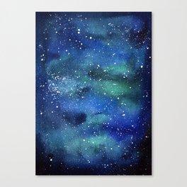 Galaxy Space Sky Watercolor Cosmic Art Canvas Print
