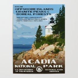 Vintage poster - Acadia National Park Poster