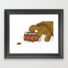 Roman turtle formation Framed Art Print