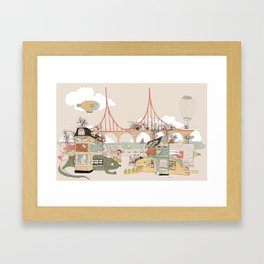 City of animamaly Framed Art Print
