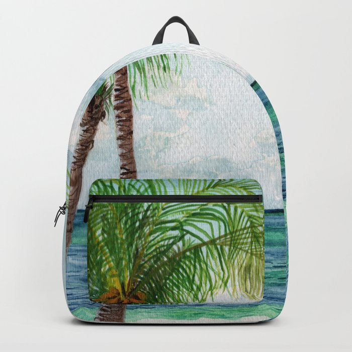 Peaceful Mexico Beach Backpack
