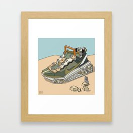 sneaker vehicle 2 Framed Art Print