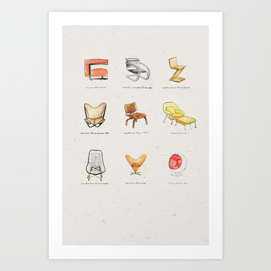 Post Modern Watercolor Chairs by heathervanderdys