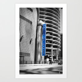 Blue and Black and White House of Blues Chicago Photography Art Print