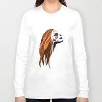 dia de los muertos Long Sleeve T-shirts featuring Dia De Los Muertos by Caitlin Victoria Parker