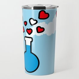 Blue and Red Laboratory Flask Travel Mug
