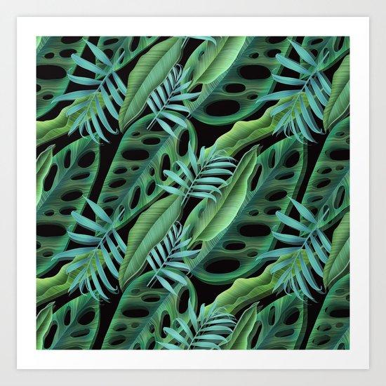 tropical again Art Print