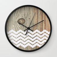 woody Wall Clocks featuring WOODY by Monika Strigel