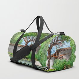 City Landscapes - Laghetto di Villa Ada - Rome - Italy Duffle Bag