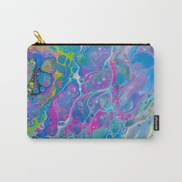 Acrylic Pour - Rainbow Paddle Pop Carry-All Pouch