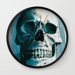 Skin E. Bones in Blue Wall Clock