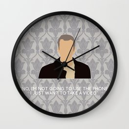 His Last Vow - Greg Lestrade Wall Clock