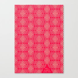 Red + Tan Triangles Canvas Print