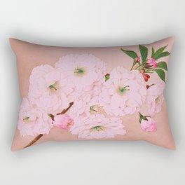 Ichi-yo - Single Leaf - Cherry Blossoms Rectangular Pillow