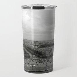 Bird's Eye View of Bucharest, Romania Travel Mug