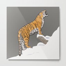 The Wild Ones: Siberian Tiger (illustration) Metal Print