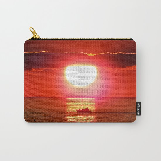 Sailboat Holds the Sun Carry-All Pouch