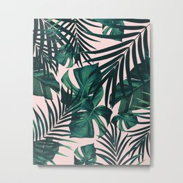 Tropical Jungle Leaves Pattern #5 #tropical #decor #art #society6 Metal Print