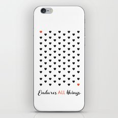 Love Endures All (Blk/Red) iPhone & iPod Skin