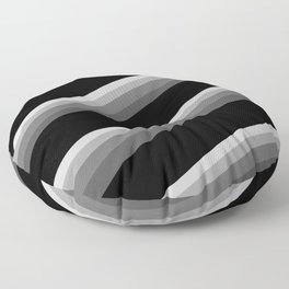 Simple black and white striped pattern . Oblique stripes . Floor Pillow