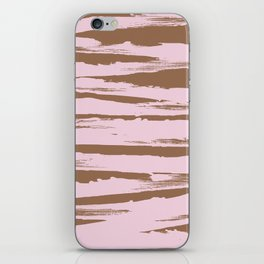 Rose brown abstract expressive brushstroke iPhone Skin