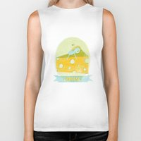 cheese Biker Tanks featuring Cheese  by Hadar Geva