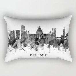 Belfast Northern Ireland Skyline BW Rectangular Pillow