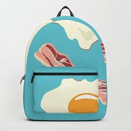 bacon & eggs, blue Backpack