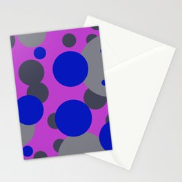 bubbles blue grey pink design Stationery Cards