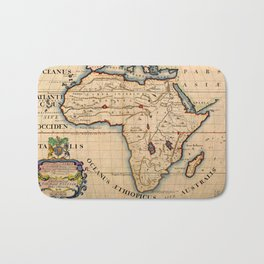 Map Of Africa 1700 Bath Mat