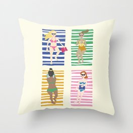 Beach Read Throw Pillow