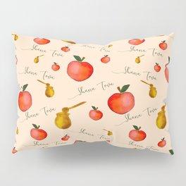 Apples and Honey Shana Tova in Tan Pillow Sham