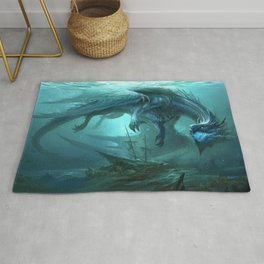 Blue Dragon v2 Rug