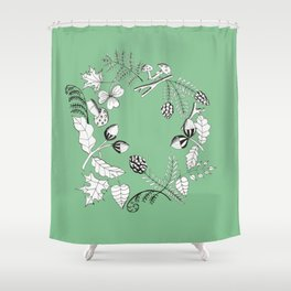 Forest Wreath Shower Curtain