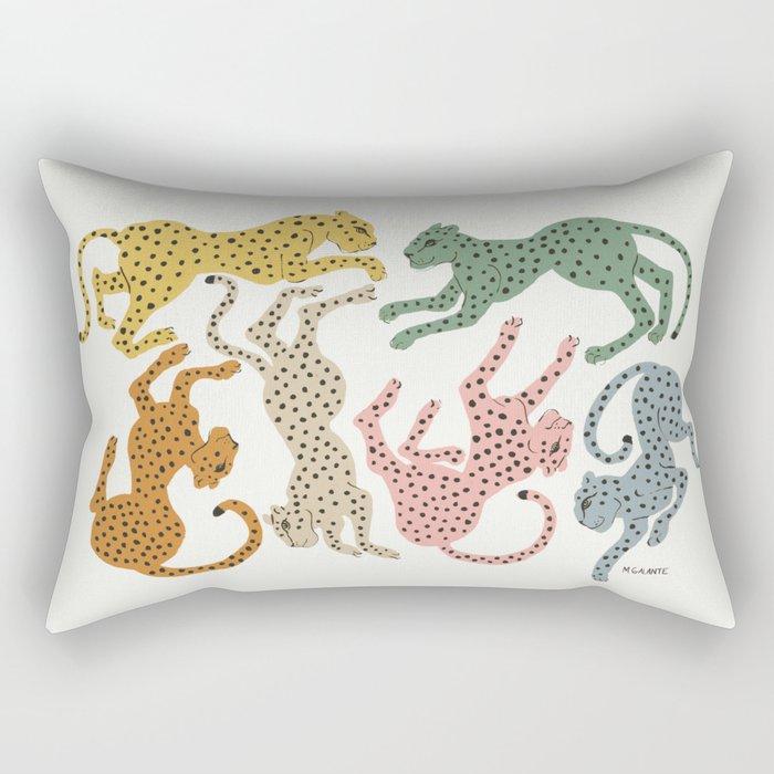 Rainbow Cheetah Rechteckiges Kissen