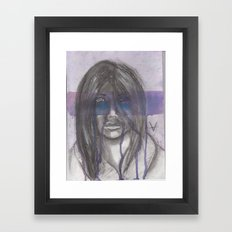 whats behind the mask Framed Art Print