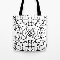 the wire Tote Bags featuring wire by kartalpaf