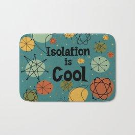 Isolation is Cool Mid-century Modern, Blue Cosmic Design Bath Mat