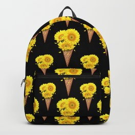 Ice cream with sunflowers Backpack