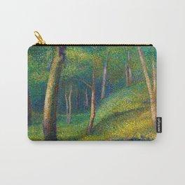 Maidenhair, Aspen, Ginkgo Biloba, & Birch Tree Forest landscape painting by Edmond Petitjean Carry-All Pouch