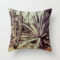 garfield Throw Pillows featuring Garfield Conservatory  by Misha Ashton-Moore