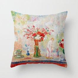 12,000pixel-500dpi - Fantastic still life - James Sidney Edouard Baron Ensor Throw Pillow