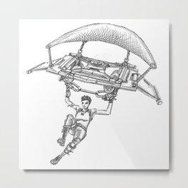 Battle Royale Parachutist Metal Print