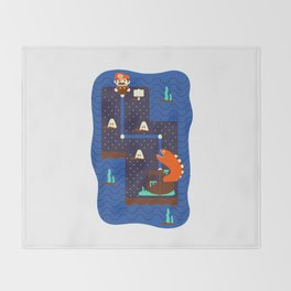 Overworld: Deep Throw Blanket