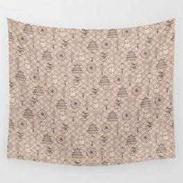Retro asian pattern Wall Tapestry