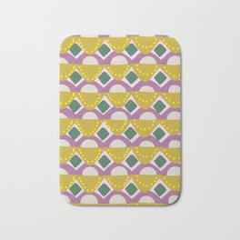 Tribal Banners Pattern in Chartreuse Bath Mat