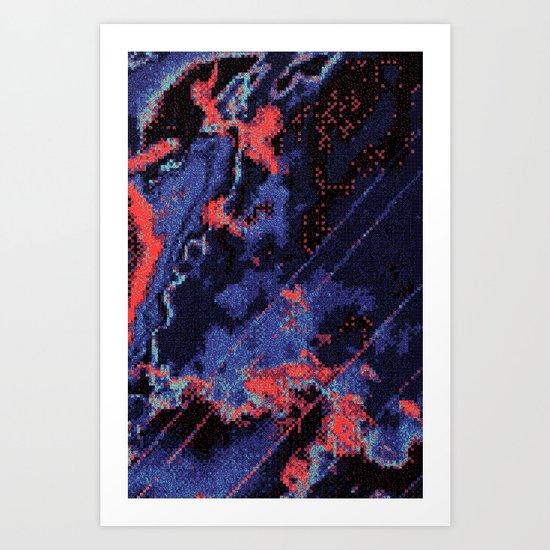 Glitch Cartography #1 Art Print